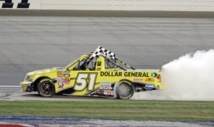 Kyle Busch wins the 2013 EnjoyIllinois.com 225 at the Chicagoland Speedway in Joliet, IL.(HHP/Alan Marler)