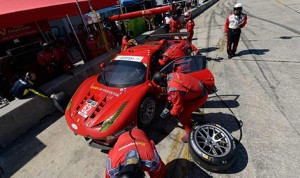 Matteo Malucelli, driver of the No. 62 Ferrari in the GT Le Mans class was one of two drivers suspended by IMSA today. (IMSA Photo)