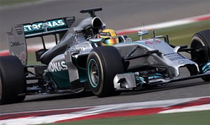 Lewis Hamilton topped the final day of pre-season Formula One testing Sunday in Bahrain. (Mercedes Photo)