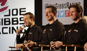 Matt Kenseth and Kyle Busch will join Denny Hamlin on track in his seventh-annual celebrity Late Model race on April 24 to benefit the Cystic Fibrosis Research Lab at Children's Hospital of Richmond at VCU. (NASCAR Photo)