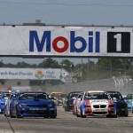 The Continental Tire SportsCar Challenge field takes the green flag on Friday at Sebring (Fla.) Int'l Raceway. (Michael Levitt/LAT Photo)