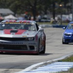 Robin Liddell and Andrew Davis drove the Stevenson Motorsports Camaro GS.R to victory in the Grand Sports class on Friday at Sebring Int'l Raceway. (Richard Dole/LAT Photo)