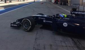 Felipe Massa put his Williams Mercedes FW36 on top of the speed charts on Saturday. (Photo: Williams)
