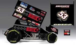 A rendering of the  Brian Cannon Motorsports No. 53 of Andy Gregg.