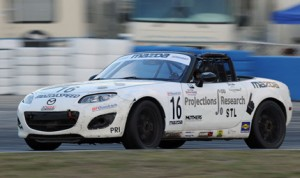 John Dean will start fro the pole position at his home track in Sebring Int'l Raceway during the opening round of the 2014 SCCA Pro Racing Mazda MX-5 Cup Presented by BFGoodrich Tires season. (Mark Weber/SCCA Photo)