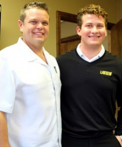 Venturini Motorsports General Manager Billy Venturini (right) with Cody Coughlin.