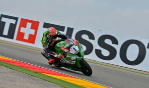 Tom Sykes earned the pole for Sunday's World Superbike event at Motorland Aragon. (World Superbike Photo)