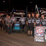 Kasey Kahne Racing swept the top three positions during Sunday's World of Outlaws STP Sprint Car Series event at Calistoga (Calif.) Speedway. (Chris Dolack/World of Outlaws Photo)