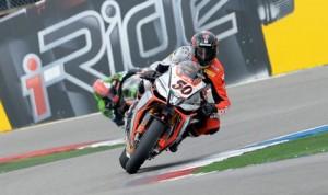 Sylvain Guintoli won the first of two World Superbike races Sunday in Assen, Netherlands. (World Superbike Photo)