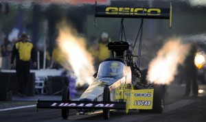 Richie Crampton was fastest in NHRA Top Fuel qualifying Friday at Royal Purple Raceway in Baytown, Texas. (NHRA Photo)