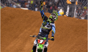 Ryan Villopoto won Saturday night's Monster Energy Supercross race in Houston's NRG Stadium. (Simon Cudby photo)