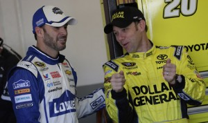 Jimmie Johnson and Matt Kenseth, who finished first and second in the NASCAR Sprint Cup Series standings in 2013, are winless this year as the series heads to Darlington (S.C.) Raceway. (HHP/Harold Hinson Photo)
