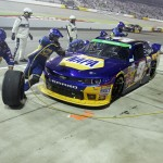 Chase Elliott pits during the ToyotaCare 250 at the Richmond Int'l Raceway in Richmond, Va. (HHP photo/Alan Marler)