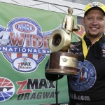 Robert Hight became the first two-time Funny Car winner of the NHRA Four-Wide Nationals Sunday at zMAX Dragway. (HHP/Gregg Ellman Photo)