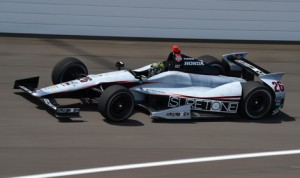 Kurt Busch on track Tuesday at Indianapolis Motor Speedway. (IndyCar Photo)