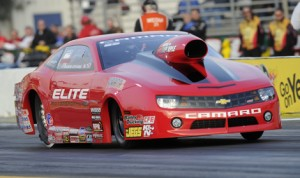 Erica Enders-Stevens is the championship leader in the NHRA Pro Stock division so far in 2014. (NHRA Photo)