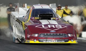 Tim Wilkerson has won an NHRA Funny Car event since 2011 and is hoping to get back into victory lane next weekend in Texas. (NHRA Photo)