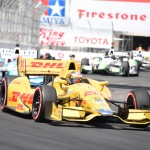 Ryan Hunter-Reay, pictured during the Verizon IndyCar Series' Toyota Grand Prix of Long Beach (Calif.) on April 15, paced practice at Barber (Ala.) Motorsports Park. (Al Steinberg Photo)