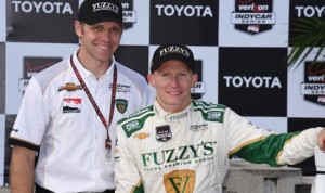 Mike Conway delivered a victory for team owner Ed Carpenter on the Streets of Long Beach,, Calif., last weekend. (Al Steinberg Photo)