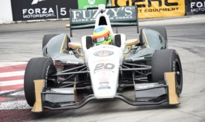 Mike Conway drove to his second victory in the Toyota Grand Prix of Long Beach on Sunday. (Al Steinberg Phoot0