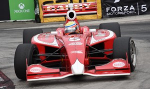 Gabby Chaves on his way to victory in Saturday's Indy Lights event in Long Beach, Calif. (Al Steinberg Photo)