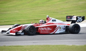 Zach Veach put his Andretti Autosport entry on the Indy Lights pole at Barber Motorsports Park Friday. (Al Steinberg Photo)