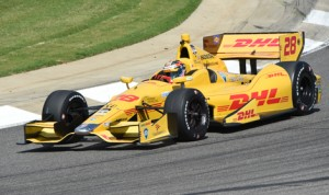 Ryan Hunter-Reay set the pace during Verizon IndyCar Series practice Friday at Barber Motorsports Park. (Al Steinberg Photo)