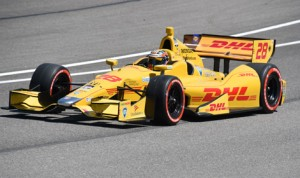 Ryan Hunter-Reay on track during Verizon IndyCar Series qualifying in April at Barber Motorsports Park. (Al Steinberg Photo)