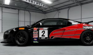 CRP Racing will field an Audi R8 in the remainder of the Pirelli World Challenge season with sponsorship from Hawk Performance.
