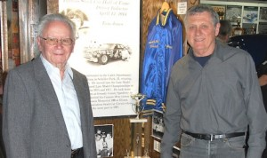 Elmer Steinbeck (left) and Tom Jones – new Illinois Stock Car Hall of Fame members. (Stan Kalwasinski Photo)