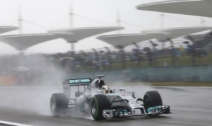 Lewis Hamilton will start from the pole during Sunday's Formula One event in Shanghai. (Mercedes Photo)