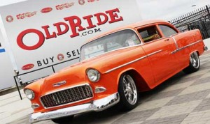 This 1955 Chevrolet Bel Air and it's owner, Jerry Horine, of Louisville, Ky., took home overall Best of Show at the Charlotte Motor Speedway AutoFair hosted by OldRide.com. (Adam Fenwick Photo)