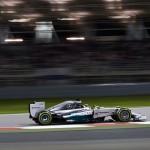 Lewis Hamilton leads the way during Sunday's Formula One Bahrain Grand Prix. (Steve Etherington Photo)
