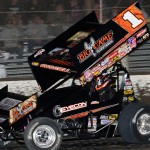 Sammy Swindell picked up a pair of World of Outlaws STP Sprint Car Series wins this year before calling it a career. (Donald Figler photo)