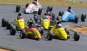 Drivers battle for position during Saturday's F1600 Formula F Championship Series opener at Road Atlanta. (F1600 Photo)
