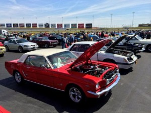 Five decades of Mustangs - thousands of them - will be on display at Charlotte Motor Speedway this weekend as part of the Mustang 50th Birthday Celebration, which kicked off Thursday at the legendary superspeedway. (CMS/Jonathan Coleman Photo)