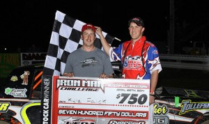 Kyle Falck won Friday's USRA Stock Car feature at Bloomfield (Iowa) Speedway. (Danny Howk Photo)