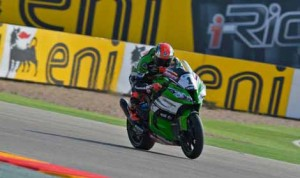 Tom Sykes swept both rounds of the World Superbike event Sunday at Motorland Aragaon in Spain. (World Superbike Photo)