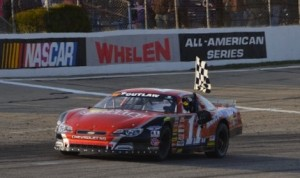Eddie MacDonald won Sunday's Governor's Cup ACT late model race at Lee USA Speedway. (Eric LeFleche photo)