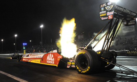 Doug Kalitta continues to lead the NHRA Top Fuel rankings. (NHRA Photo)