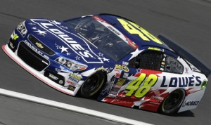 Jimmie Johnson will start on the pole for Sunday's 55th annual Coca-Cola 600 at Charlotte Motor Speedway. (HHP/Gregg Ellman Photo)
