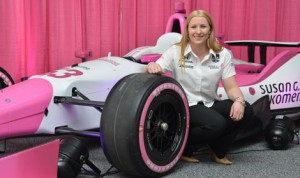 Pippa Mann will drive for Dale Coyne Racing during the 2014 Indianapolis 500. (IndyCar Photo)