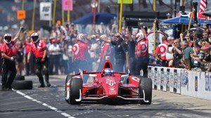 Scott Dixon was fast during Indianapolis 500 final practice and in the pit stop competition. (Walt Kuhn/IndyCar photo)