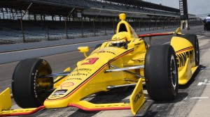 Helio Castroneves posted the third fastest time during Sunday's Indianapolis 500 practice session. (Al Steinberg photo)