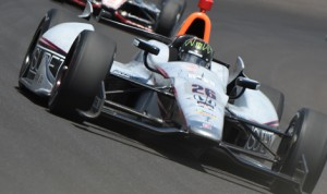 Kurt Busch walked away from a crash during Monday's Indianapolis 500 practice. (Al Steinberg Photo)
