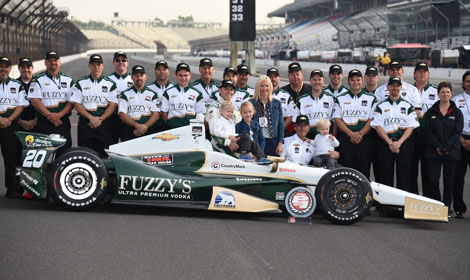 Ed Carpenter will start from the pole for the 98th Indianapolis 500 next Sunday. (Al Steinberg Photo)