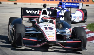 Will Power held off Graham Rahal in the final laps to win the first race during the Indy Dual in Detroit Saturday at Belle Isle Park. (Al Steinberg Photo)
