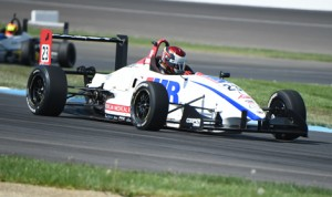 Will Owen captured his first Cooper Tires USF2000 Championship victory on the Indianapolis Motor Speedway road course Friday. (Al Steinberg Photo)