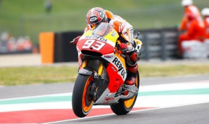 Marc Marquez was fastest during a soggy Friday at the Mugello Circuit. (MotoGP Photo)