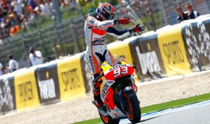 Marc Marquez earned his fourth-straight MotoGP victory to start the 2014 season Sunday in Jerez, Spain. (MotoGP Photo)